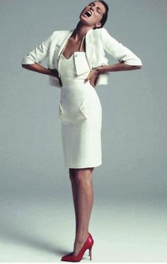 Daria Werbowy by Inez and Vinoodh for Vogue Paris Feb. 2012 | Fashion photography | Editorial | CHANEL
