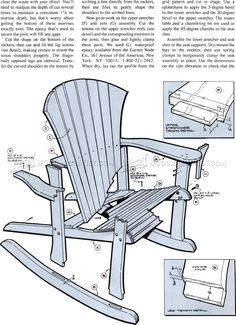 #1860 Adirondack Rocking Chair Plans - Outdoor Furniture Plans and Projects