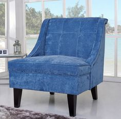 Found it at Wayfair - Kansas Wingback Slipper Chair Upholstered Furniture, Accent Furniture, Blue Accent Chairs, Trending Paint Colors, Slipper Chairs, Bar Lounge, Club Chairs, Living Room Chairs, Wingback Chair