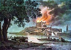 Hrad požiar, pohľadnica
