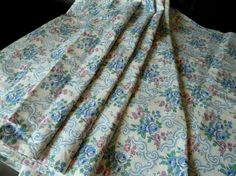 French cotton fabric country style BlueRed by MarianasLinenHeaven, £8.00