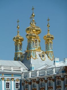 Catherine Palace, Gold Domes, St. Petersburg, Russia