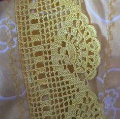 Ravelry: Filetstueck's Handkerchief / hanky in filet-crochet with scalloped edge Crochet Boarders, Crochet Edging Patterns, Crochet Lace Edging, Crochet Motifs, Crochet Squares, Crochet Chart, Thread Crochet, Crochet Diagram, Love Crochet