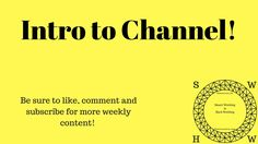 So it has finally happened! The plan since Easter 2014 has finally come into action! There have been a few hurdles but the YT Channel is finally set up and r...