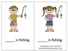 Pronouns activity with a camping theme! Targets he, she, and they. 22 free cards to download!