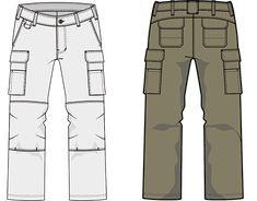 Men Trousers, Cargo Pants Men, Pants Drawing, Simple Elegant Wedding Dress, Outdoor Pants, Fashion Design Sketches, Technical Drawing, Fashion Flats, Work Pants