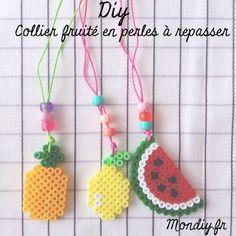 Diy: Collier fruité en perles à repasser | MonDiy.fr