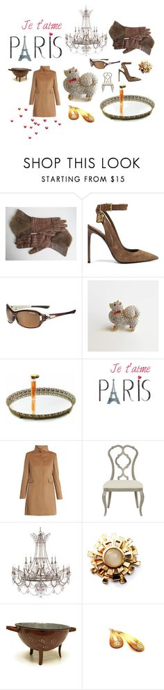 """Je t' aime PARIS"" by seasidecollectibles ❤ liked on Polyvore featuring Tom Ford, Tifosi, MaxMara, Paco Rabanne, kitchen and vintage"