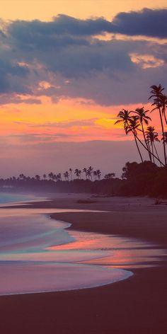 Tangalle Beach sunset, Sri Lanka, by Charly Lataste. Love this mellow sunset scene. Beautiful Sunset, Beautiful Beaches, Beautiful World, The Beach, Sunset Beach, Beach Sunsets, Beach Sunset Wallpaper, Sand Beach, Sunset Art