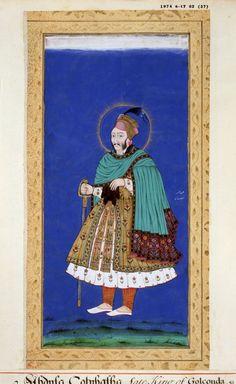 Abdullah Quṭb Shah Mughal Paintings, Mughal Empire, Historical Women, Indian Artist, Blue Bloods, Hyderabad, Persian, Exotic, Miniatures