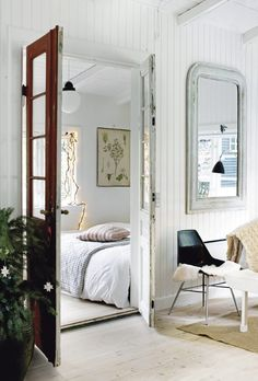 Cute idea. I have small french doors like that now, I think with a different space I would like it better. This is cute.