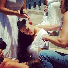 """#bald #baldgirl #headshave"""