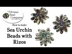 ▶ How to Make Sea Urchin Beads with Czech Rizo Beads (Part 1) - YouTube…