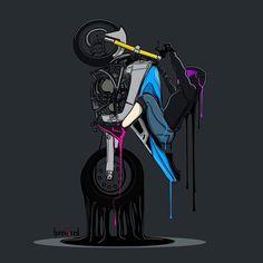 Motorcycle Artwork by Motorcycle Art, Bike Art, Moto Wallpapers, Bike Illustration, Cute Love Images, Doodle Art Drawing, Buddha Art, Biker Chick, Biker Girl