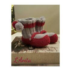 Merceditas con calcetines de pompones ❤