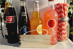 Love the mail box idea on this site for the cards and the soda idea