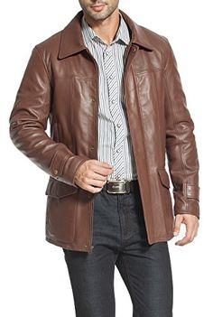 "BGSD Men's ""Hunter"" Patch Pocket Lambskin Leather Coat"