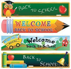 Cute theme vector school Blackboard chalk pencils