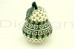 Boleslawiec Stoneware Pear Shaped Jar 917 Wiza pattern ...