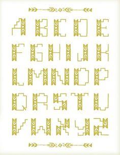 Typography - Typography - Aspen inspired alphabet... Typography design & inspiration  Preview – Work    Description  Aspen inspired alphabet  – Source –