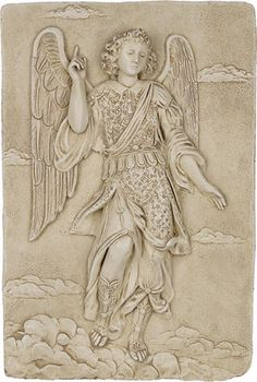 archangel raphael wall relief Home Decor Sculptures, Wall Sculptures, Museum Store, Art Museum, Entertaining Angels, Angel Theme, Archangel Raphael, Blessed Mother Mary, Guardian Angels