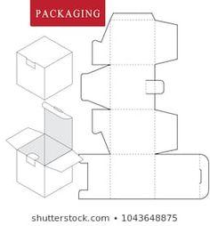 Box Template : images, photos et images vectorielles de stock Paper Box Template, Origami Templates, Box Templates, Cardboard Box Crafts, Foam Crafts, Diy Gift Box, Diy Box, Gift Boxes, Diy Paper