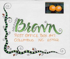 Mail art envelope to Tammy Mail Art Envelope Lettering, Calligraphy Envelope, Envelope Art, Envelope Design, Calligraphy Fonts, Script Fonts, Mail Art Envelopes, Addressing Envelopes, Fancy Envelopes