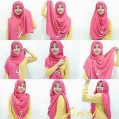 I love this color so much, it's bright, feminine and personally makes me feel happy whenever I wear it, this hijab style is so basic, with a full not only chest coverage but also back coverage, it's so easy and…