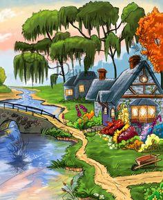 Resultado de imagen de paintings of cartoons