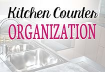 Kitchen counter organization ideas and tips for having an organized kitchen counter.