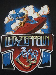 original LED ZEPPELIN vintage 70s tour SHIRT by rainbowgasoline, $300.00