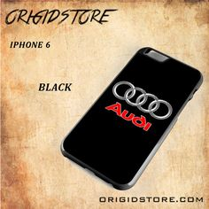 Audi Logo Car Snap on 2D Black and White Or 3D Suitable With Image For Iphone 6 Case