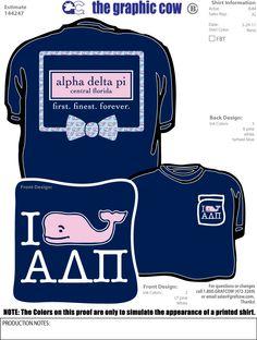 Vineyard Vines-inspired Alpha Delta Pi t-shirt!