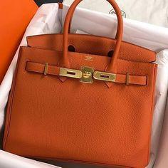 Hermès 30cm Birkin | Orange Togo Leather | Gold Hardware