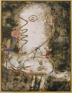 Jean Dubuffet.Man with a Rose.1949