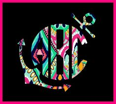 "3"" MONOGRAM CUSTOM PRINT CIRCLE ANCHOR VINYL DECAL STICKER WALL LAPTOP CAR Car Monogram, Anchor Monogram, Monogram Shirts, Monogram Decal, Wall Stickers, Vinyl Decals, Zoom Zoom, Vinyl Designs, Silhouette Projects"