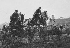 https://flic.kr/p/jnq5am | Album Photo d'une unité de Cavalerie de la Wehrmacht | Des officiers s'entraînent au saut d'obstacle.