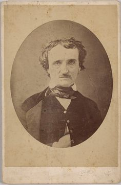 NON-Morgan, Photograph of Edgar Allen Poe, (head and shoulders portrait), Private Collection (Susan Jaffe Tane Collection)