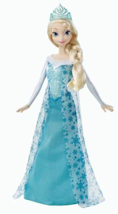 Disney Frozen Sparkle Princess Elsa Barbie Doll Blue Child Toddler Girl Play Toy