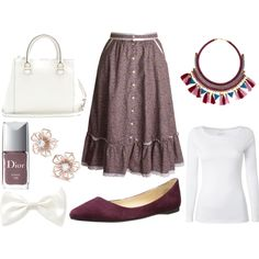 A fashion look from November 2014 featuring white t shirt, purple skirt and ballet shoes. Browse and shop related looks. Shoe Bag, Polyvore, Stuff To Buy, Accessories, Shopping, Collection, Shoes, Design, Women