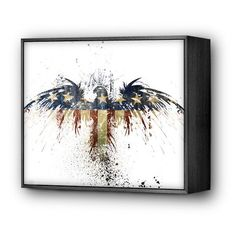 Eagles Become by Alex Cherry -  Mini Art Block framed print - $34.99 available at EyesOnWalls http://www.eyesonwalls.com/products/eaglesbecome-ax