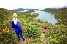 Lagoa do Fogo. This smaller caldera doesn't draw as much hype as the Sete, but in my opinion, it is far more breathtaking. Be sure to hike down to the bottom of the gorge where you will find an abandoned beach for swimming! #pontadelgada #azores #azoresislands #nordeste #landscape #familytravel#kidswithpassports #travelblogger #travelgram #whalewatching #azoreslife#azoresportugal #saomiguel#5globetrotters