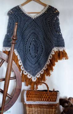 Image result for granny square boho poncho crochet FREE pattern
