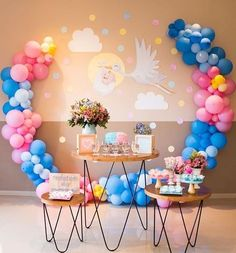 5 clever ideas to prepare the nursery. Fiesta Baby Shower, Baby Shower Fun, Baby Shower Balloons, Baby Shower Favors, Baby Shower Themes, Baby Shower Parties, Gender Reveal Balloons, Gender Reveal Party Decorations, Balloon Decorations