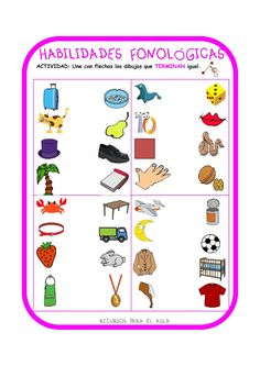 Centro Deusto de Psicopedagogía y Logopedia: CONCIENCIA FONOLÓGICA Phonemic Awareness Activities, Phonological Awareness, Sensory Activities, Speech Language Therapy, Speech And Language, Speech Therapy, Ludo, Dora, Preschool Worksheets