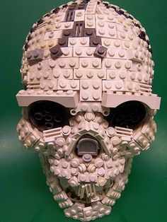 Lego Skull by Monsterbrick.  See more http://lilywight.com/2013/10/26/lego-horror/