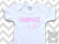 Handmade by God Christian Baby Girl Top