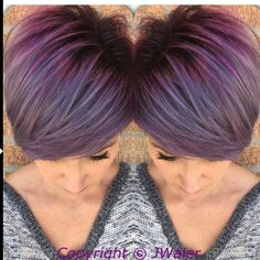 @jwaierhairartist. @jwaierhairartist Do you love this lavender silver melt??