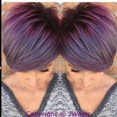 @jwaierhairartist. @jwaierhairartist Do you love this lavender silver melt??