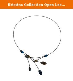 Kristina Collection Open Loop Leaves Choker Necklace, Czech Glass on Memory Wire. Designed by talented artists from the United States and the Czech Republic, our jewelry line features handmade Czech and German glass beads and an open, floating memory wire design. Our jewelry is inspired by the traditional style of Bohemian glass making, which has been used throughout history in creating European fashion jewelry, glass flowers, vases, chandeliers, and other glass creations. We are proud to...